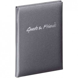 "PAGNA Livre d'or ""Guests & Friends"", anthracite, 240 pages"