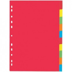 PAGNA Intercalaire Carton 225g A4 10 onglets 5 couleurs