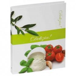 """PAGNA classeur à anneaux de recettes de cuisine, format A5 motif """"tomate et olive"""""""