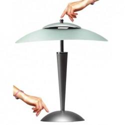 UNILUX Lampe abat-jour CRISTAL tactile 2x9W Gris argent