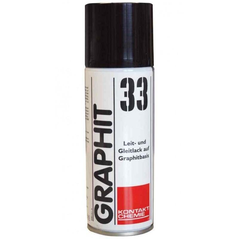 """KONTAKT CHEMIE Vernis conducteur au graphite """"GRAPHIT 33"""" 200ml"""