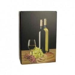 PAPSTAR Boite carton pour 3 Bouteilles VIN BLANC