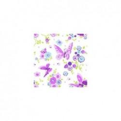 """PAPSTAR Lot de 20 serviettes à motifs """"Beautiful Butterfly"""",330x 330mm"""