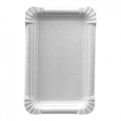 "PAPSTAR Lot de 250 assiettes carton ""pure"" rectangulaire. dim.:165x200mm"