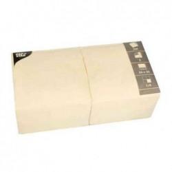 PAPSTAR Lot de 250 serviettes 330 x 330 mm triple épaisseur Crème