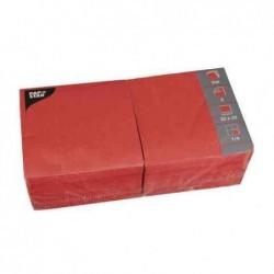 PAPSTAR Lot de 250 serviettes 330 x 330 mm triple épaisseur Rouge