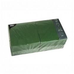PAPSTAR Lot de 250 serviettes 330 x 330 mm triple épaisseur Vert foncé