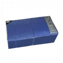 PAPSTAR Lot de 250 serviettes 330 x 330 mm triple épaisseur Bleu foncé
