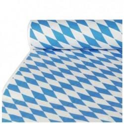 PAPSTAR Rouleau Nappe en papier damassée « Bleu bavarois » 10 m x 1 m