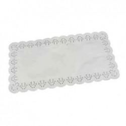 PAPSTAR Lot de 6 napperons ppier 400 x 200 mm Blanc
