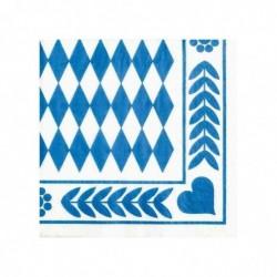 "PAPSTAR Serviettes à motifs ""losange bleu"", 330 x 330 mm"