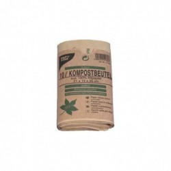 PAPSTAR Lot de 10 Sacs compostables Papier 70g Marron, 10 litres