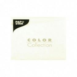 PAPSTAR paquet de 50 serviettes, 330 x 330 mm, 3 couches, blanc