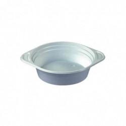PAPSTAR paquet de 100 Terrine à soupe en plastique, rond, blanc, 500 ml
