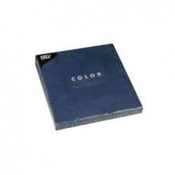 PAPSTAR paquet de 20 serviettes papier , 250 x 250 mm, Bleu foncé