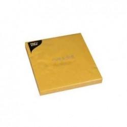 PAPSTAR paquet de 20 serviettes en papier , 250 x 250 mm, jaune