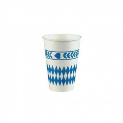 """PAPSTAR Lot de 10 Gobelet en carton """"Losange Bleu"""" 0,2 l"""