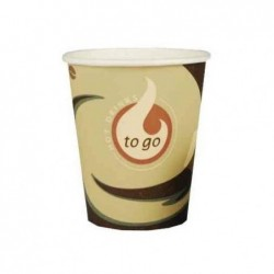 "PAPSTAR Lot de 50 Gobelets en carton café ""Coffee To Go"" H91mm 0,2 l"