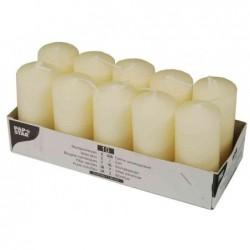 PAPSTAR Bte de 10 Bougies cylindrique Diam 40 mm H 90 mm Crème