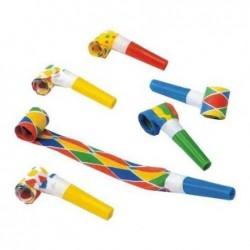 PAPSTAR Lot de 6 Sifflets sans-gêne spécial fête coloris assortis