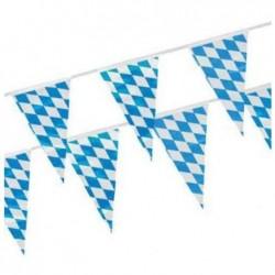 PAPSTAR Banderole 16 Fanions 16x27 cm en film plastique 4 metres « Bleu bavarois »