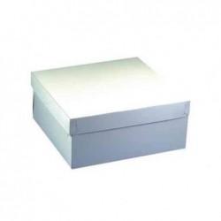 PAPSTAR Lot de 10 boîtes carton pour tartes et gateaux avec couvercle 30x30x13cm