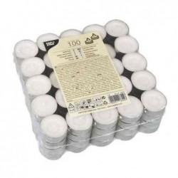 PAPSTAR Pqt de 100 bougies Chauffe-plats diamè 38 mm blanc