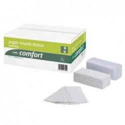 WEPA Carton de 20 x 160 Feuilles Essuie-mains Comfort 250 x 230 mm pliage V Blanc