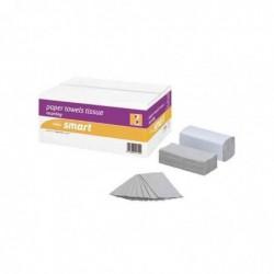 WEPA Carton 24 x 150 Feuilles Essuie-Mains SMART 250x310 mm Pli C Crêpe Nature