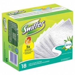 SWIFFER Lingettes sèches attrape-poussière x18 pour balai Parfum Fébrèze