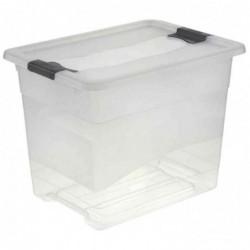 OKT Boîte de rangement Cristal-Box Plastique 24 L avec Poignées Transparent