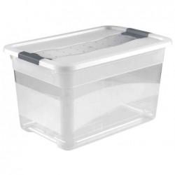 "OKT Boîte de rangement ""Kristall-Box"" 52 litres Transparent"
