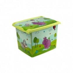 "OKT boîte de rangement ""Fashion-Box Hippo"" 20,5 litres Vert"
