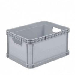 """OKT Caisse Boîte rangement """"Robusto-Box"""" 20 litres L400xP300xH220 mm Gris clair"""
