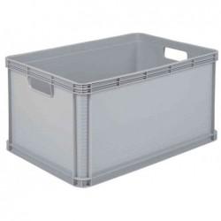 """OKT Caisse Boîte rangement """"Robusto-Box"""" 64 litres L600xP400xH320 mm Gris clair"""