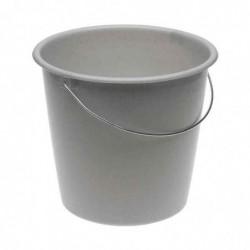 OKT Seau Plastique avec Anse acier Rond 5 litres H 20 cm Gris