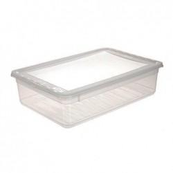 OKT Boîte de rangement BASIXX 39x26x h10 cm 8 litres PP avec couvercle Transparent