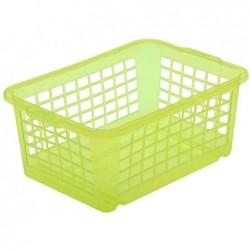 "OKT Panier Plastique Transparent ""easystorage"" 25 x 17 cm Vert"