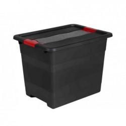 """OKT Boîte de rangement """"Box Solido"""" 24 litres Gris graphite"""