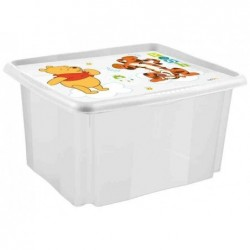 OKT keeeper Boîte Stack and Go Winnie l'ourson, 24 L, blanc