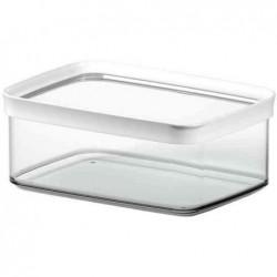 EMSA Boite pour aliments OPTIMA 0,45 litre rectangle blanc transparent