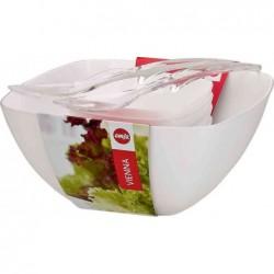 """EMSA kit pour salade """"VIENNA"""" 6 pièces plastique Blanc"""