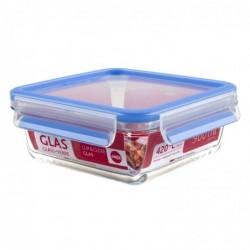 EMSA Boîte Verre Clip&Close Alimentaire Rectangulaire Transparent 0,90 L