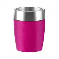EMSA Mug Isotherme TRAVEL CUP revêtement silicone, 200ml Rose