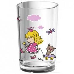 EMSA Gobelet Enfants 20cl Princesse Lavable lave-vaisselle Plastique Transparent