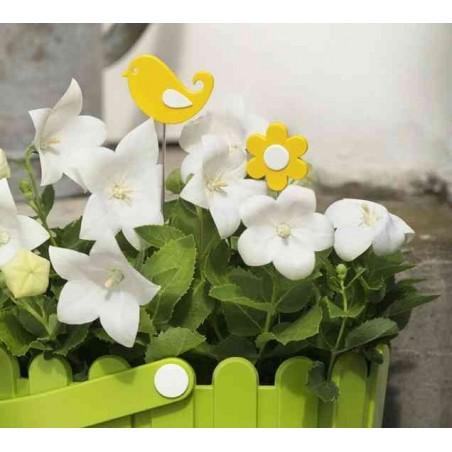 EMSA Landhaus Pique fleur décoratif pour bac à fleur Oiseau Turquoise