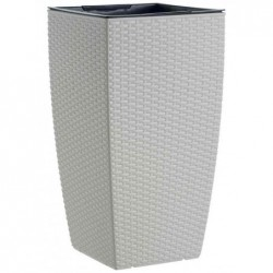 EMSA Pot à réserve d'eau CASA MESH 36x36x66 cm avec Systeme Aqua Comfort Blanc