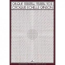 CANSON Bloc 50 Feuilles Papier Calque croquis échelle 70/75g A4 21x29,7 cm Translucide