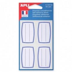 AGIPA Pochette de 32 étiquettes scolaires Livre et Cahier 33 x 53 mm
