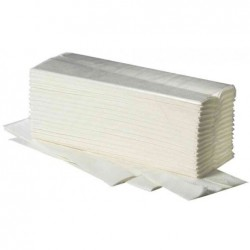 FRIPA Carton 20 x 150 feuilles Papier essuie-mains 25x23 cm Pli en V Blanc